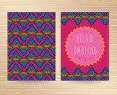 Decorative Cards — Stock Vector