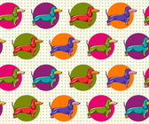 Seamless Pattern with Dachshund — Stock Vector