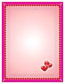 Valentine's day postcard illustration — ストック写真