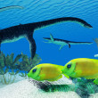 Stock Photo: Plesiosaurus Coral Reef