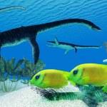 Plesiosaurus Coral Reef — Stock Photo