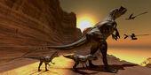 Allosaurus at Sunset — Stock Photo