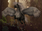 Flying Pegasus — Stock Photo