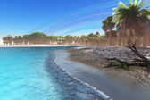Jungle Beach — Stock Photo