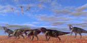 Parasaurolophus Desert — Stock Photo