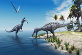 Suchomimus Dinosaurs — Stock Photo