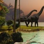 Brachiosaurus Sunset — Stock Photo #29692883