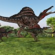 Stock Photo: Spinosaurus Mother