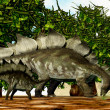 Stock Photo: Stegosaurus Mother