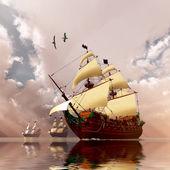 Ancient Ships — Stock Photo
