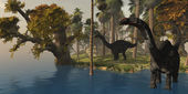 Apatasaurus Island — Stock Photo