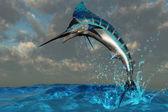 Blue Marlin Splash — Stock Photo