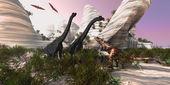 Carnotaurus Attack — Stock Photo
