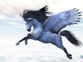 Silver Pegasus — Stock Photo