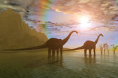 Dawn of the Dinosaurs — Stock Photo