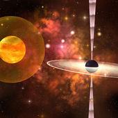 Black Hole — Stock Photo
