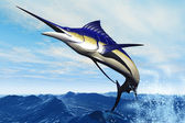 Marlin Jump — Stock Photo