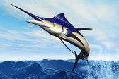 Marlin Jump — Stock Photo