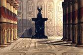 Anubis świątyni — Zdjęcie stockowe