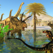 Stock Photo: Cretaceous Swamp
