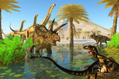 Cretaceous Swamp — Stock Photo