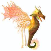 Yellow Faerie Dragon — Stock Photo