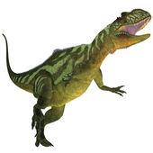 Янхуанозавр на белом — Стоковое фото