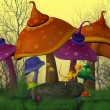 Magical Mushrooms — Stock Photo