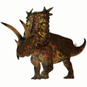 Pentaceratops on White — Stock Photo