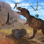 Постер, плакат: Tyrannosaurus Meeting
