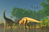 Spinophorosaurus in Swamp — Stock Photo