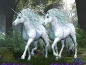 Unicorn Elm Forest — Stock Photo