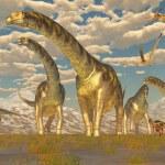 Постер, плакат: Argentinosaurus Herd Migration