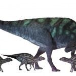 Постер, плакат: Maiasaura Dinosaur with Babies