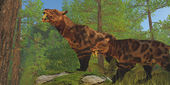Saber-Toothed Cat Forest — Zdjęcie stockowe