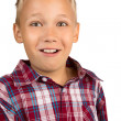 Stock Photo: Mischievous Young Boy