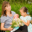 Happy Mom with Two Daughters — Stock Photo #29544549