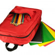 Backpack and Stationery — Stock Photo