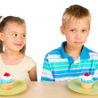 Stock Photo: Kids and Cupcakes