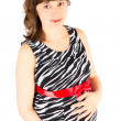 Foto Stock: Portrait of a young pregnant woman