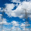Electric Powerlines with Cloudy Sky — Stock Photo #29545077