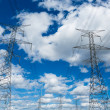 Electric Powerlines with Cloudy Sky — Stock Photo