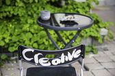 Kreativní židle — Stock fotografie