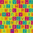 Colorful background pattern with letters — Stock Vector