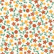 Seamless pattern with small flowers — Stock Vector
