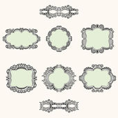 Hand-drawn frames — Stock Vector
