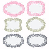 Set of hand-drawn frames — Stock Vector