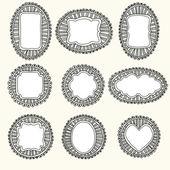 Hand-drawn frames — Stock Vector