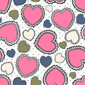 Abstract seamless background with hearts — Stock Vector