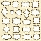 Hand-Drawn frames — Vector de stock